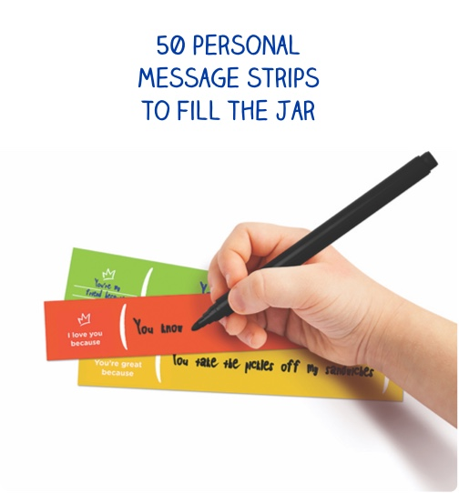 50 personal message strips to fill the jar