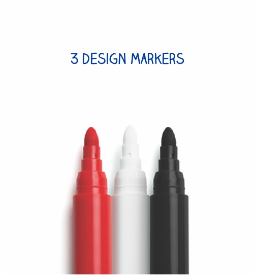 3 design markers